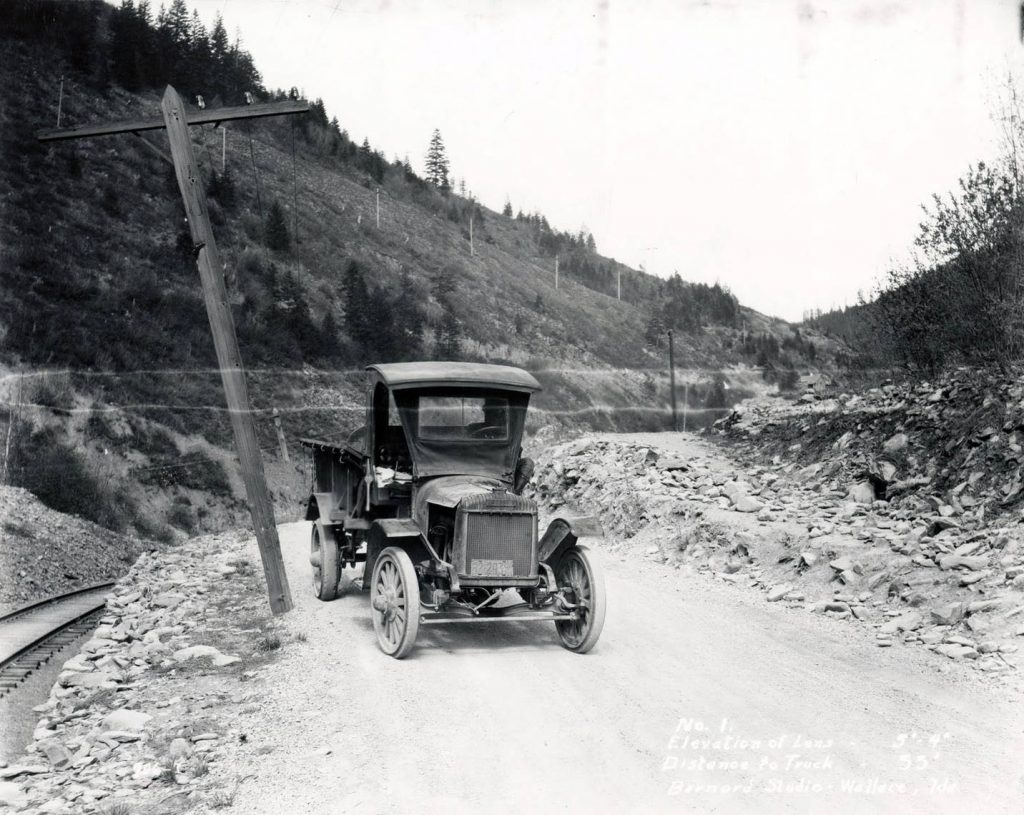 Meat truck on the mullan road 1924